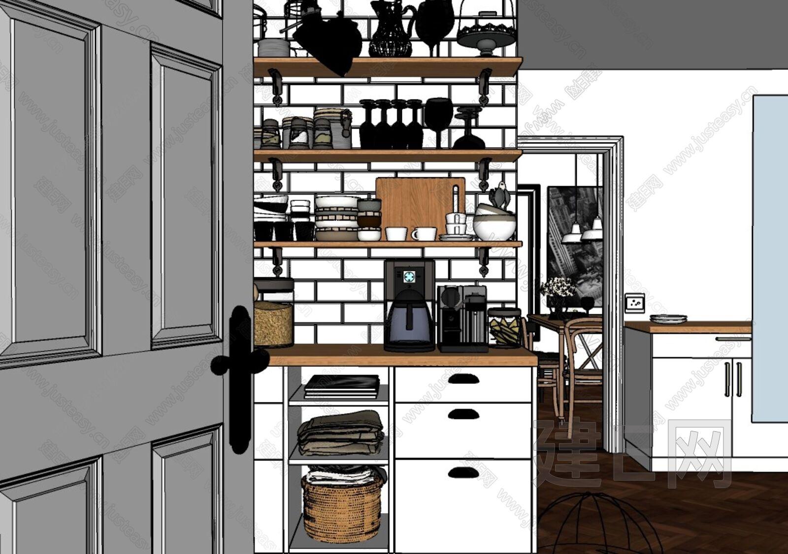 厨房sketchup模型