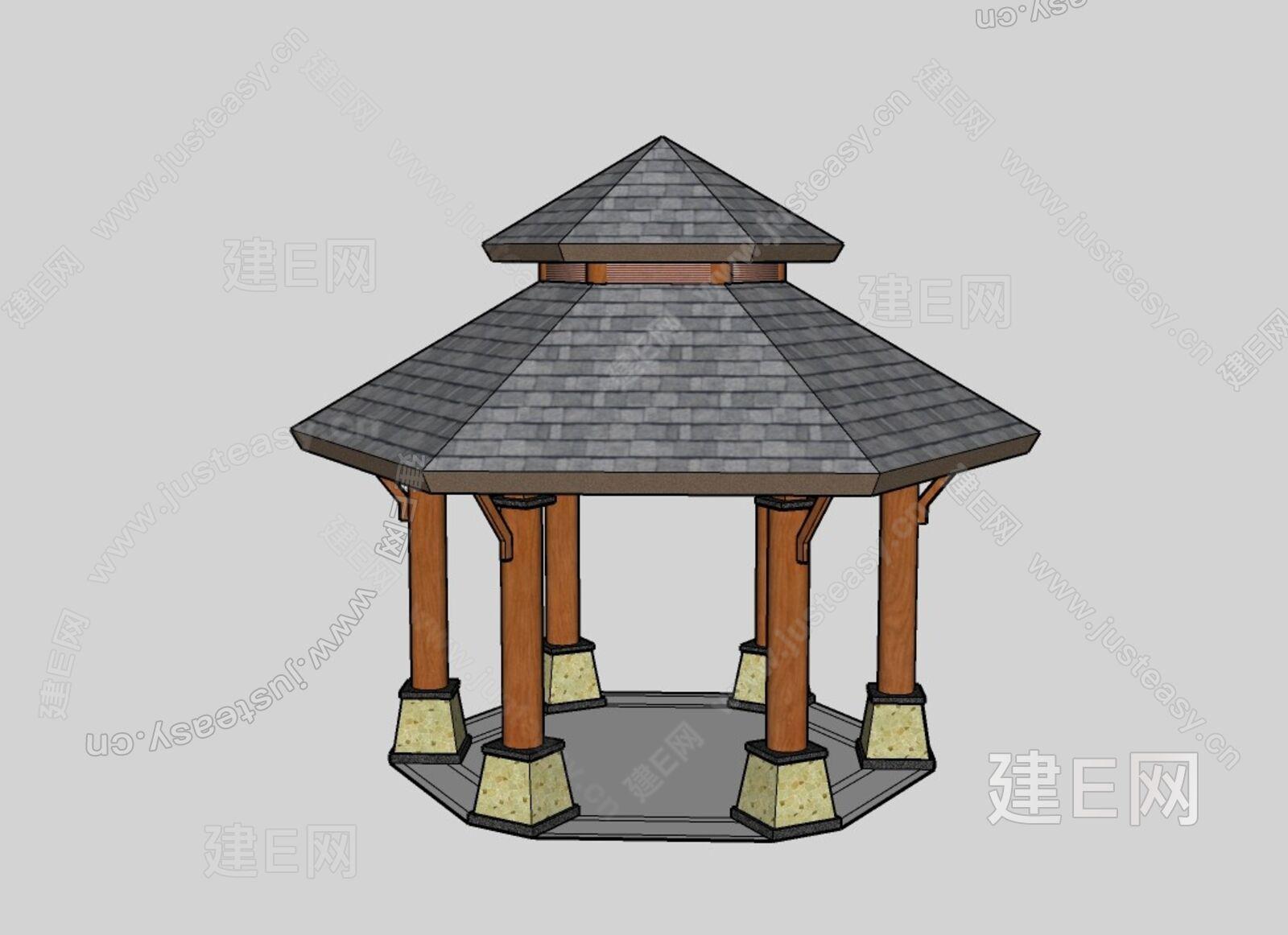 木亭sketchup模型