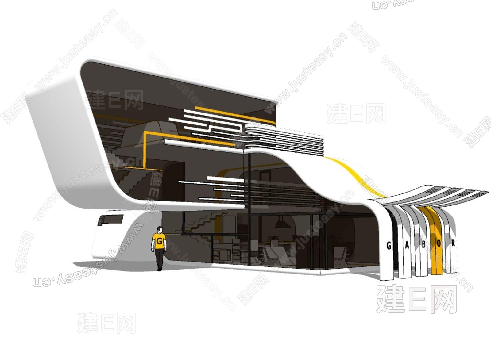 异性建筑sketchup模型