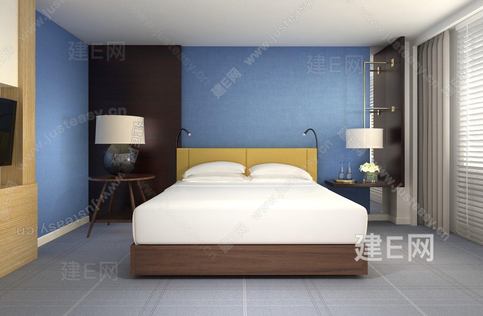 季裕棠 华盛顿柏悦酒店客房3d模型