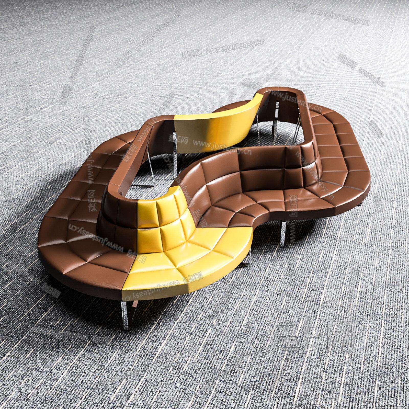 现代异形沙发3d模型