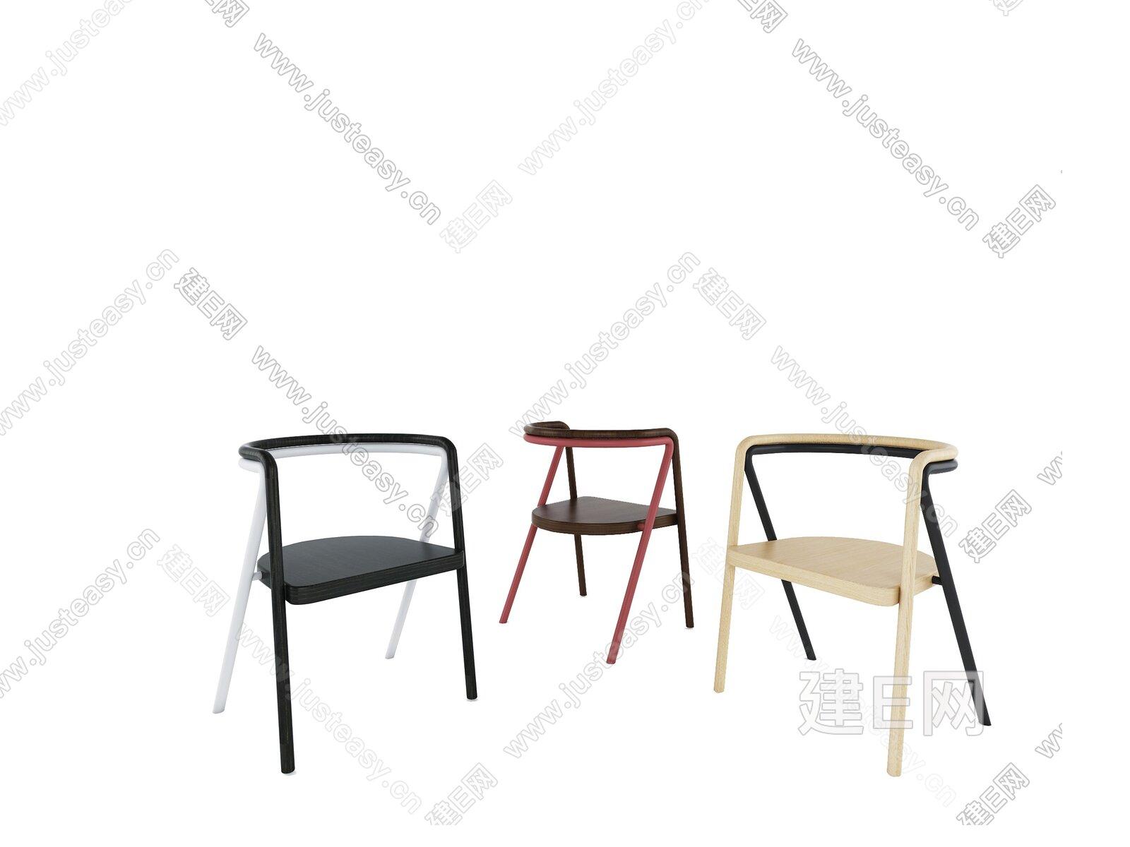 意大利 Cappellini  现代休闲椅单椅3d模型