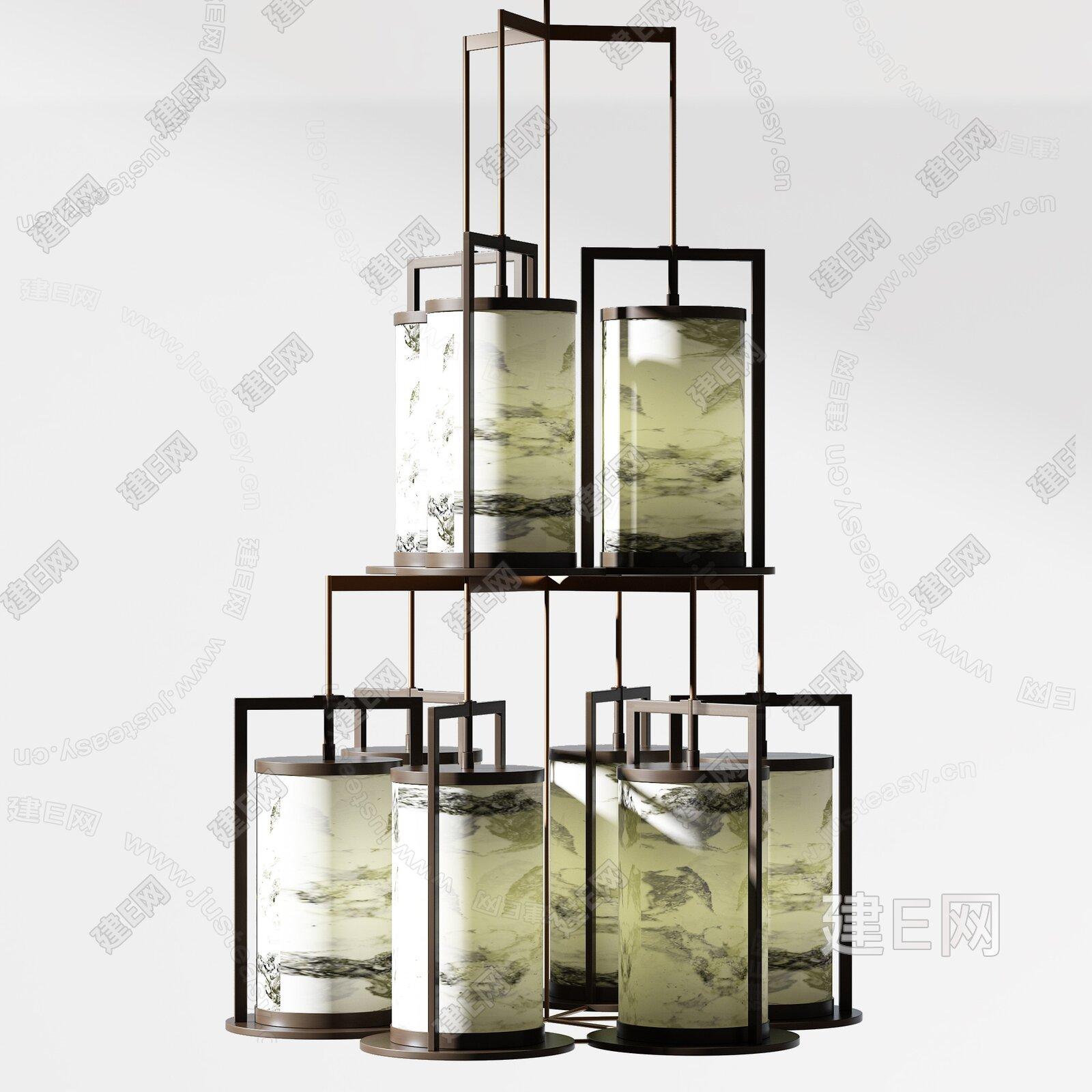意大利 CHI WING LO 新中式吊灯3d模型