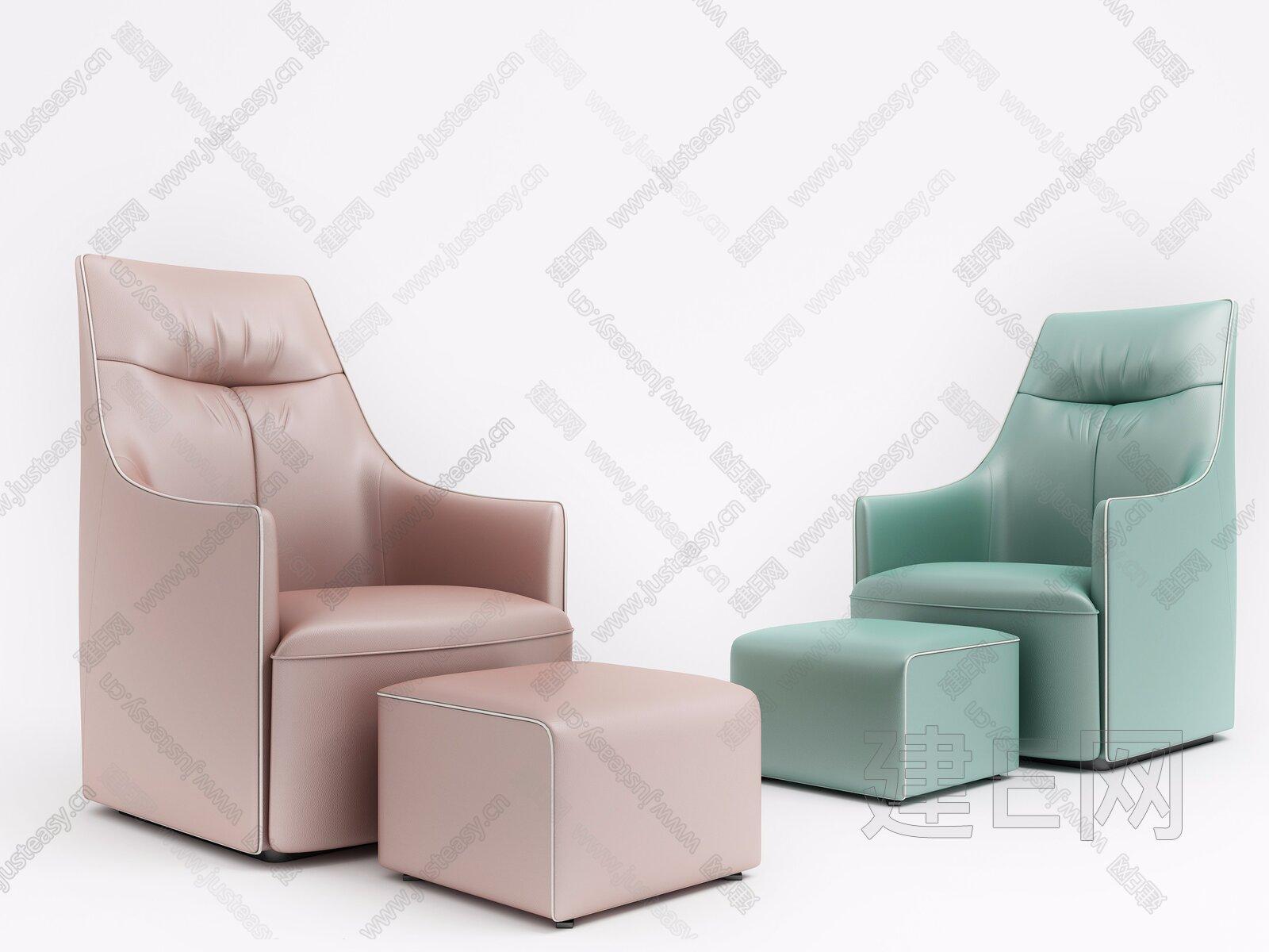 现代单人沙发3d模型