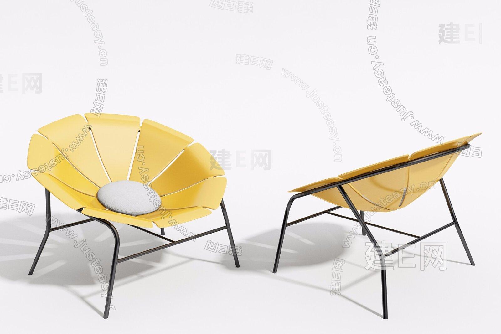 北欧户外休闲椅3d模型