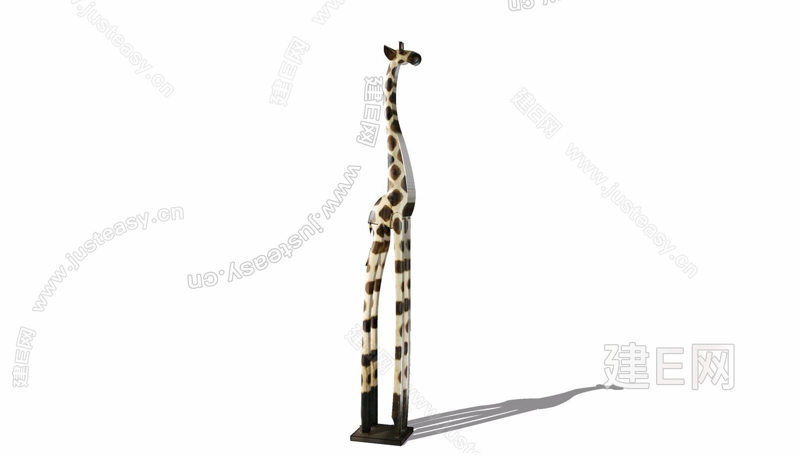 长颈鹿sketchup模型