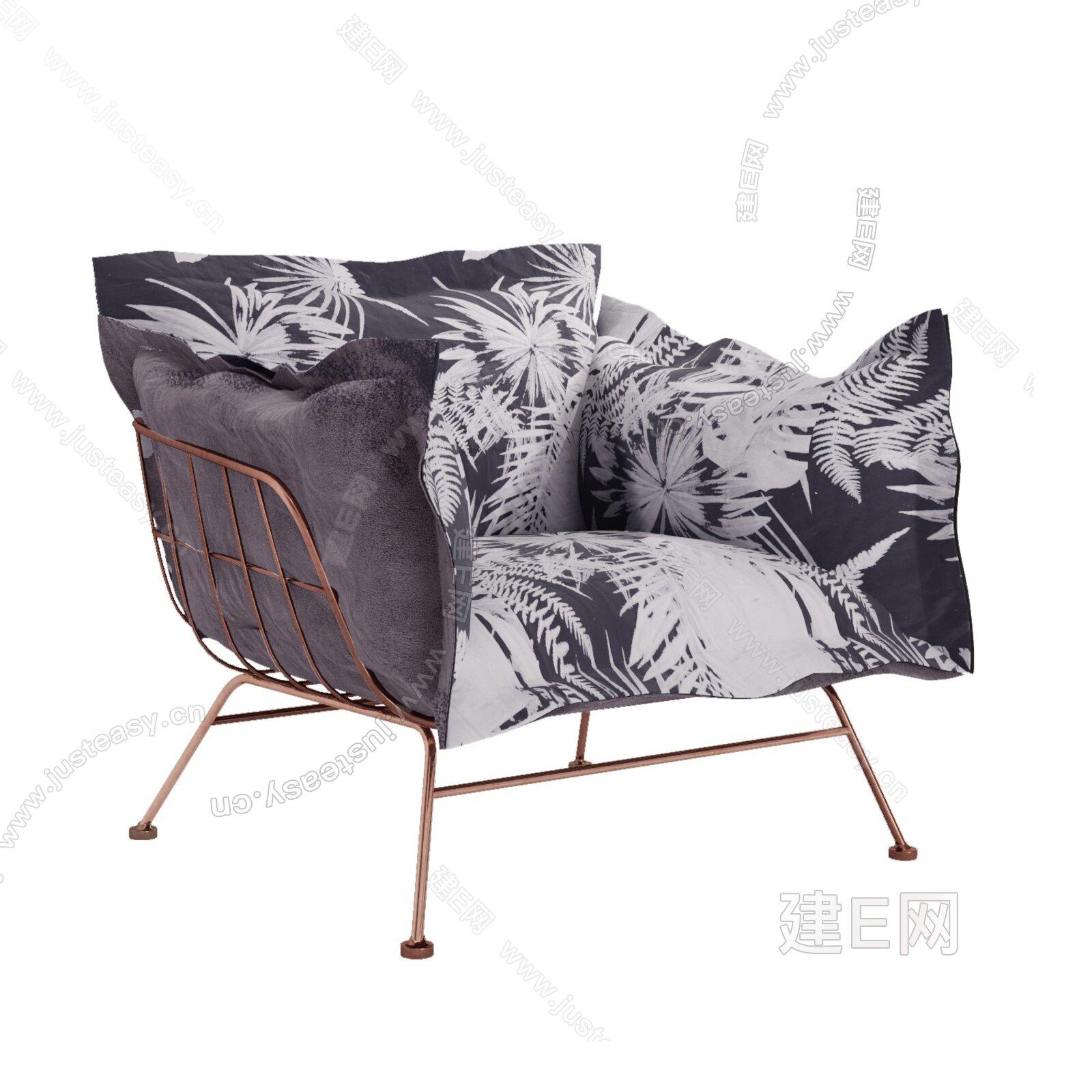 顾全 北欧休闲沙发3d模型
