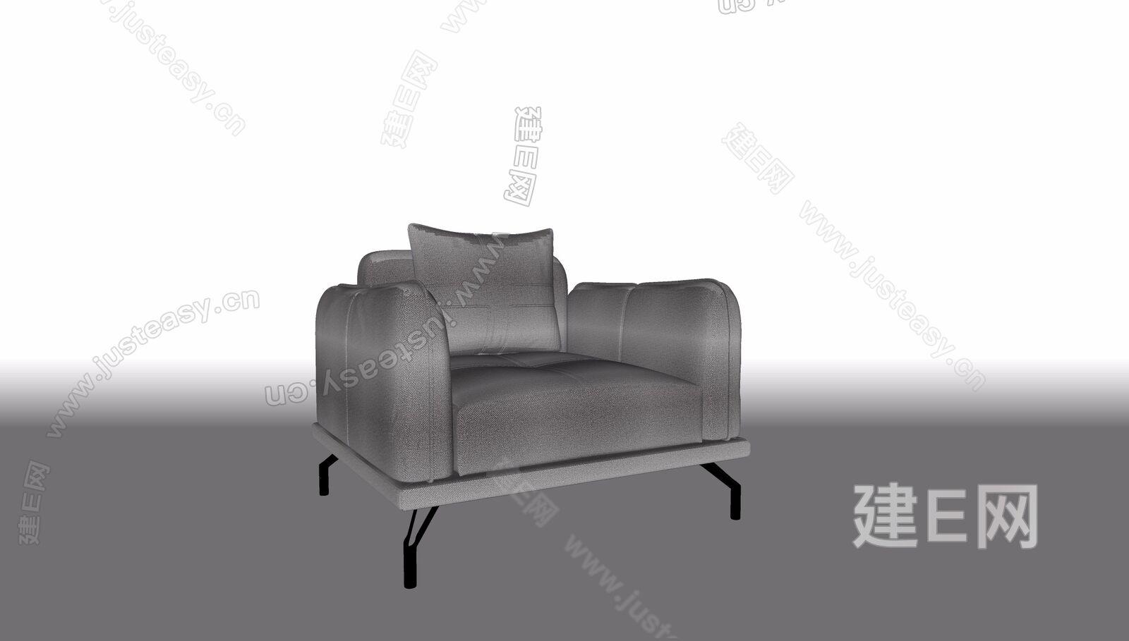 现代单人沙发sketchup模型