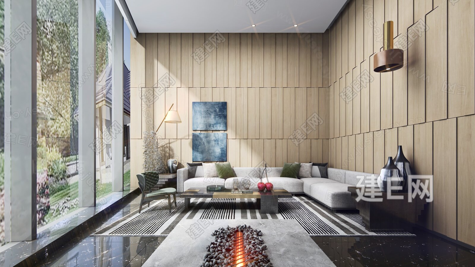 LSDCASA 葛亚曦 现代售楼处休息区3d模型