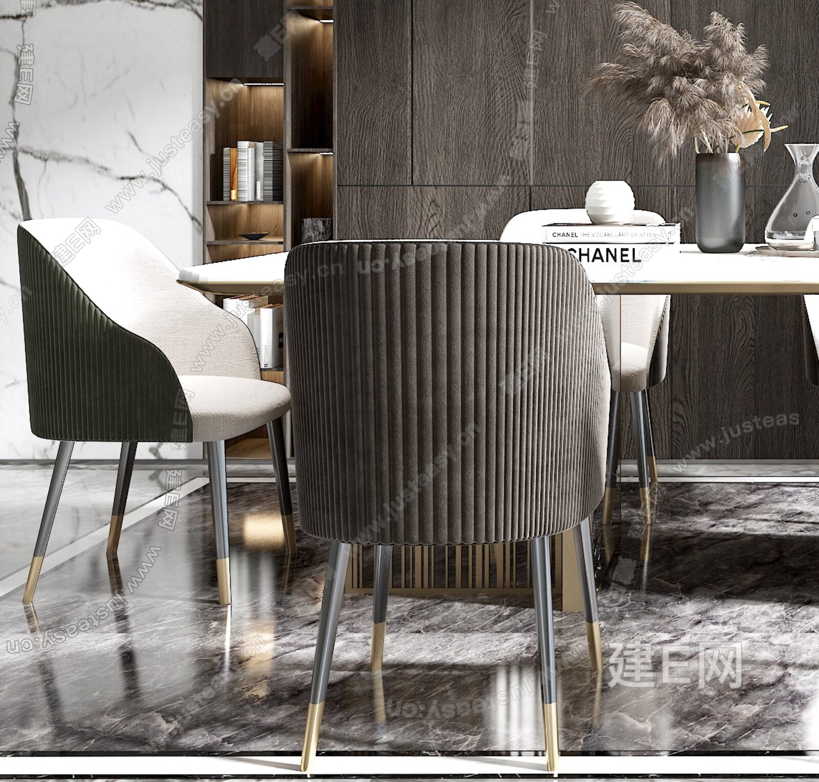 现代餐厅3d模型