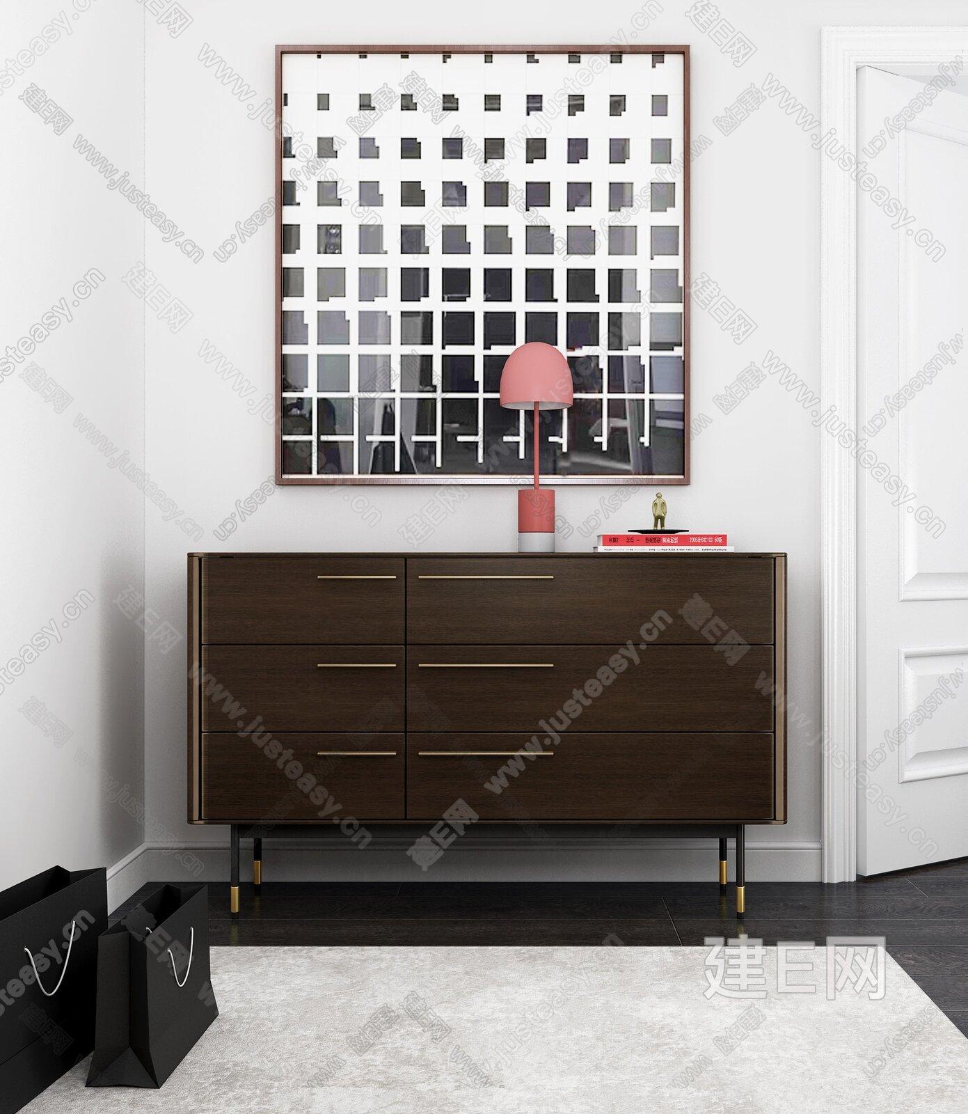 现代玄关柜3d模型