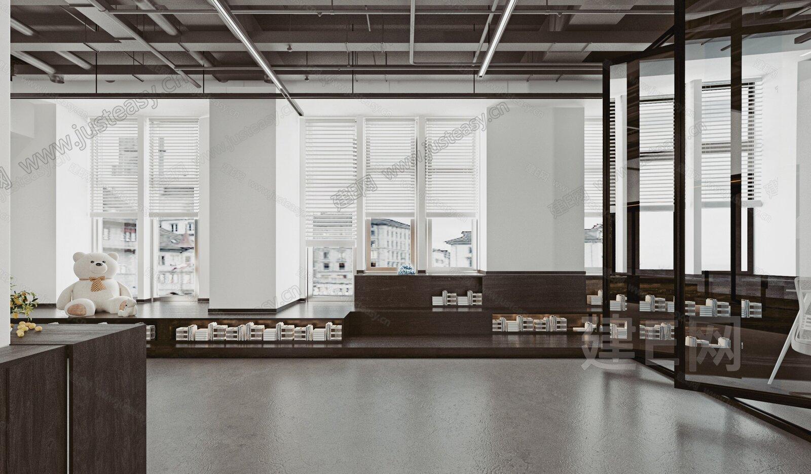 现代书店3d模型