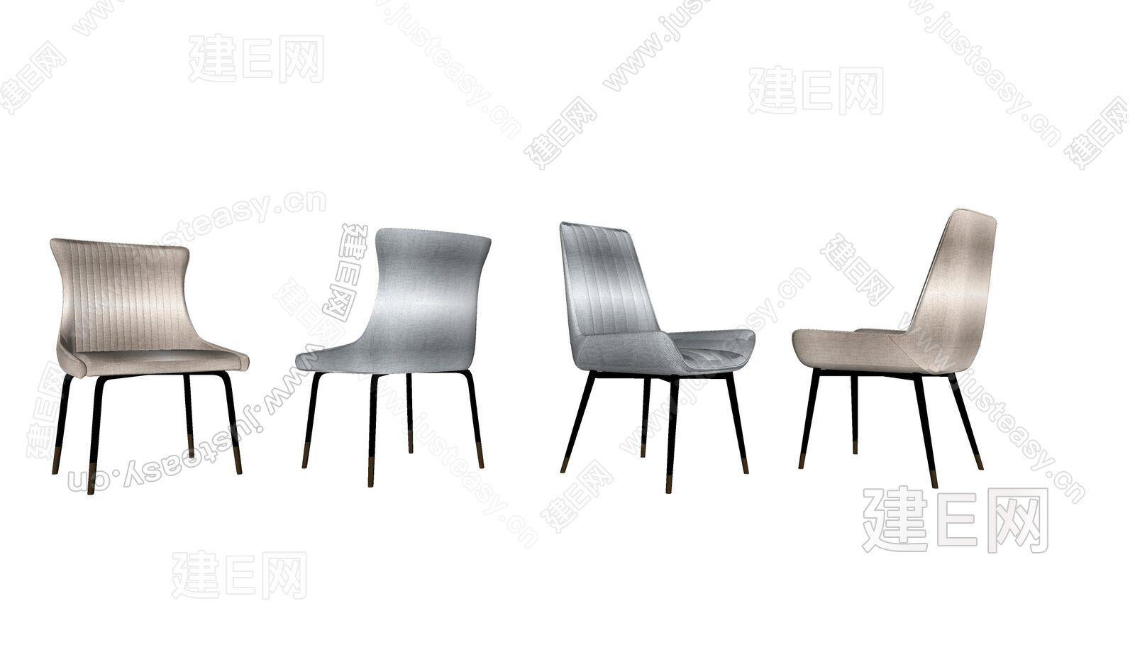 现代轻奢单椅组合sketchup模型