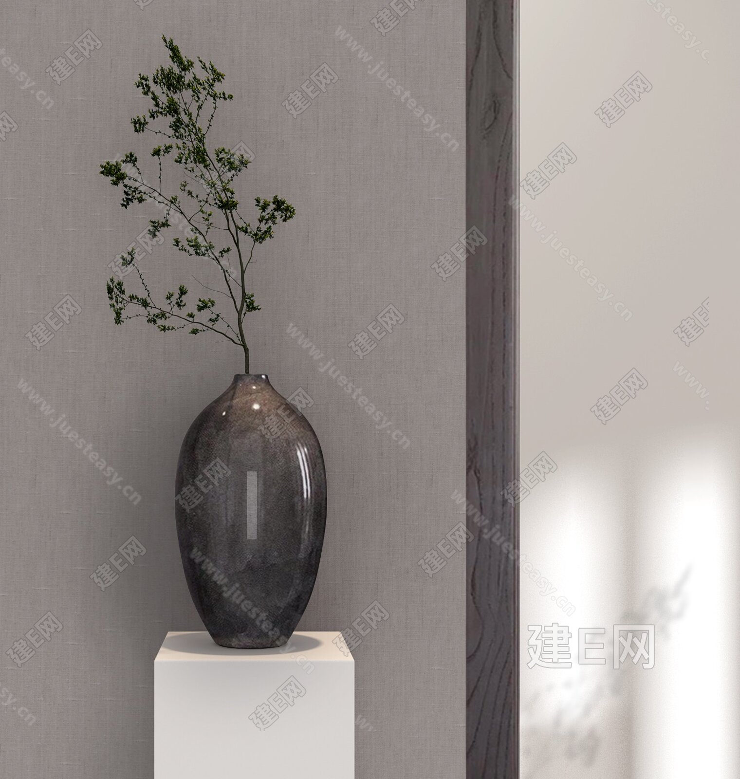 花瓶摆件3d模型