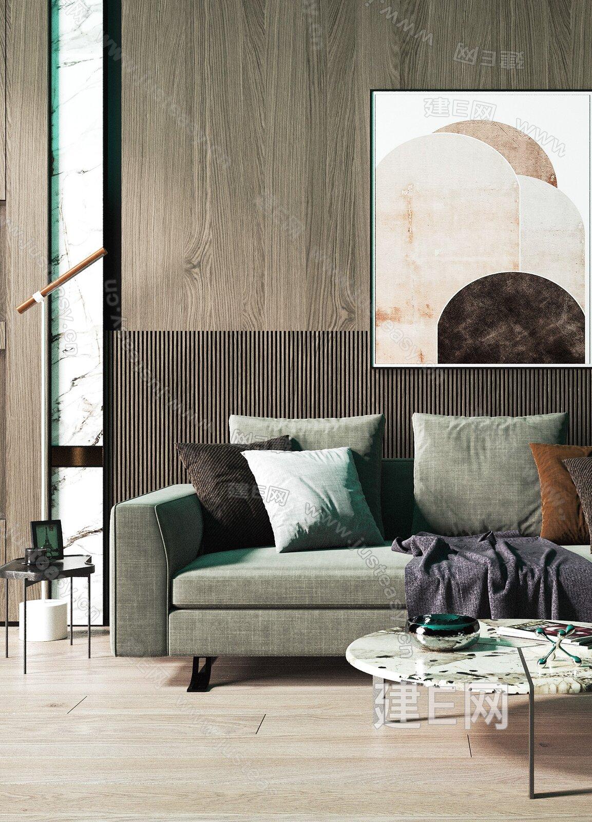 Busnelli 现代沙发茶几组合3d模型