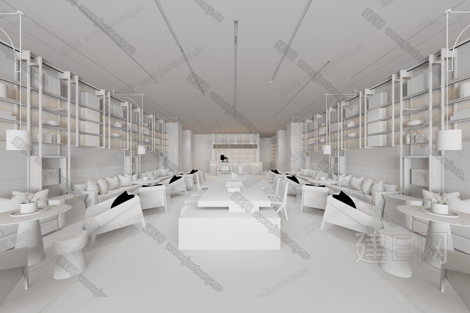 矩阵纵横 新中式售楼处接待区3d模型