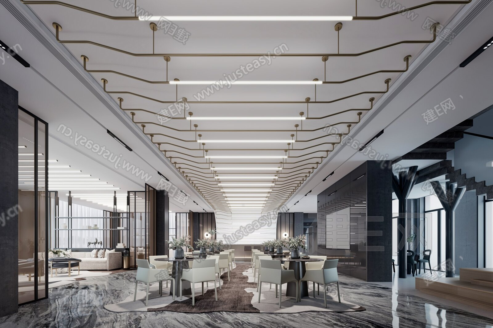 SCD郑树芬设计 新中式售楼处3d模型