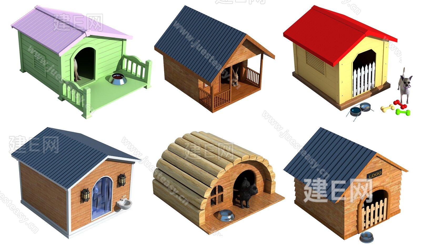 现代狗窝宠物房猫舍3d模型