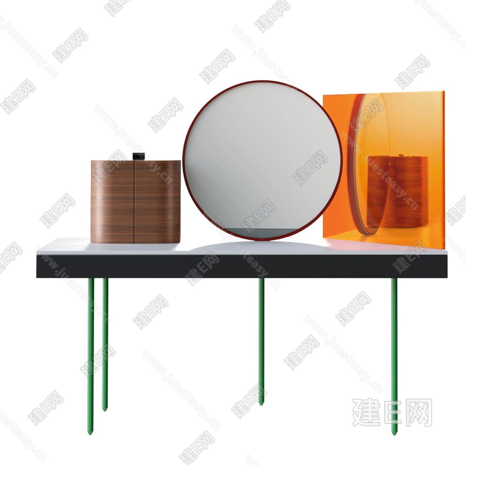 b.d barcelona design 现代梳妆台3d模型
