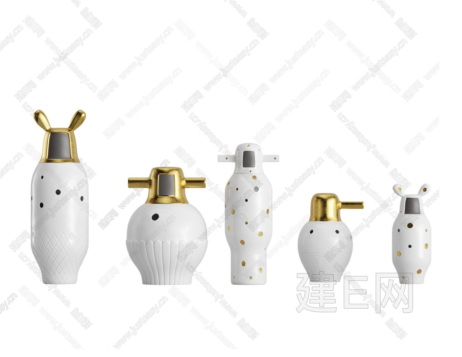 b.d barcelona design 现代花瓶摆件3d模型
