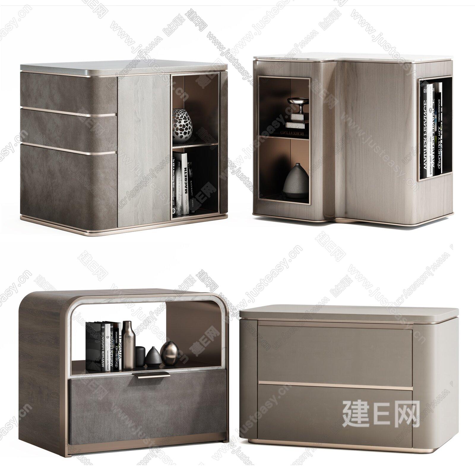 现代床头柜 3d模型