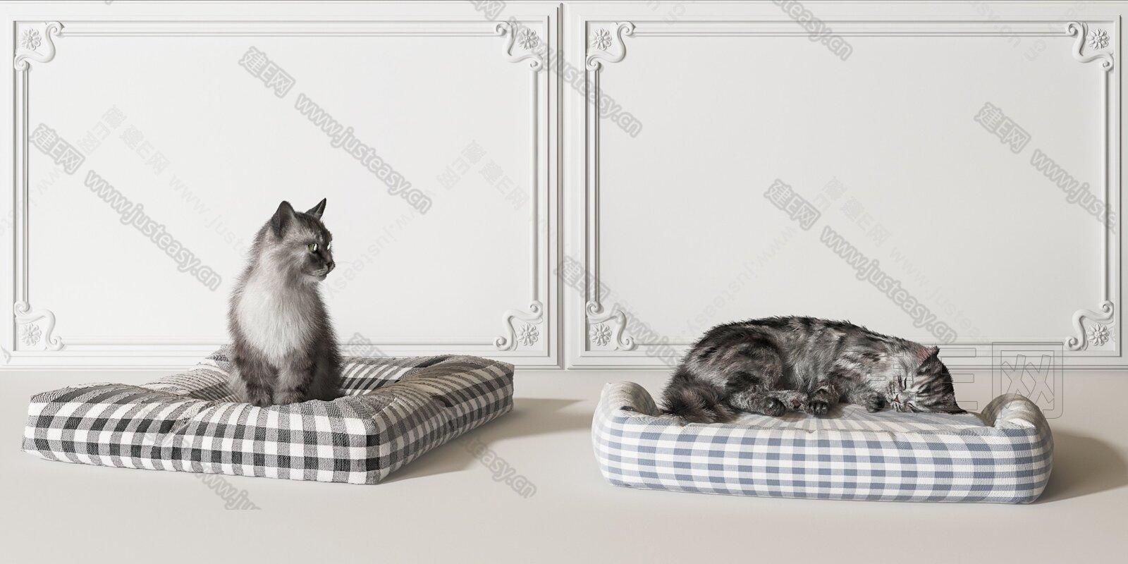 现代猫窝 3d模型