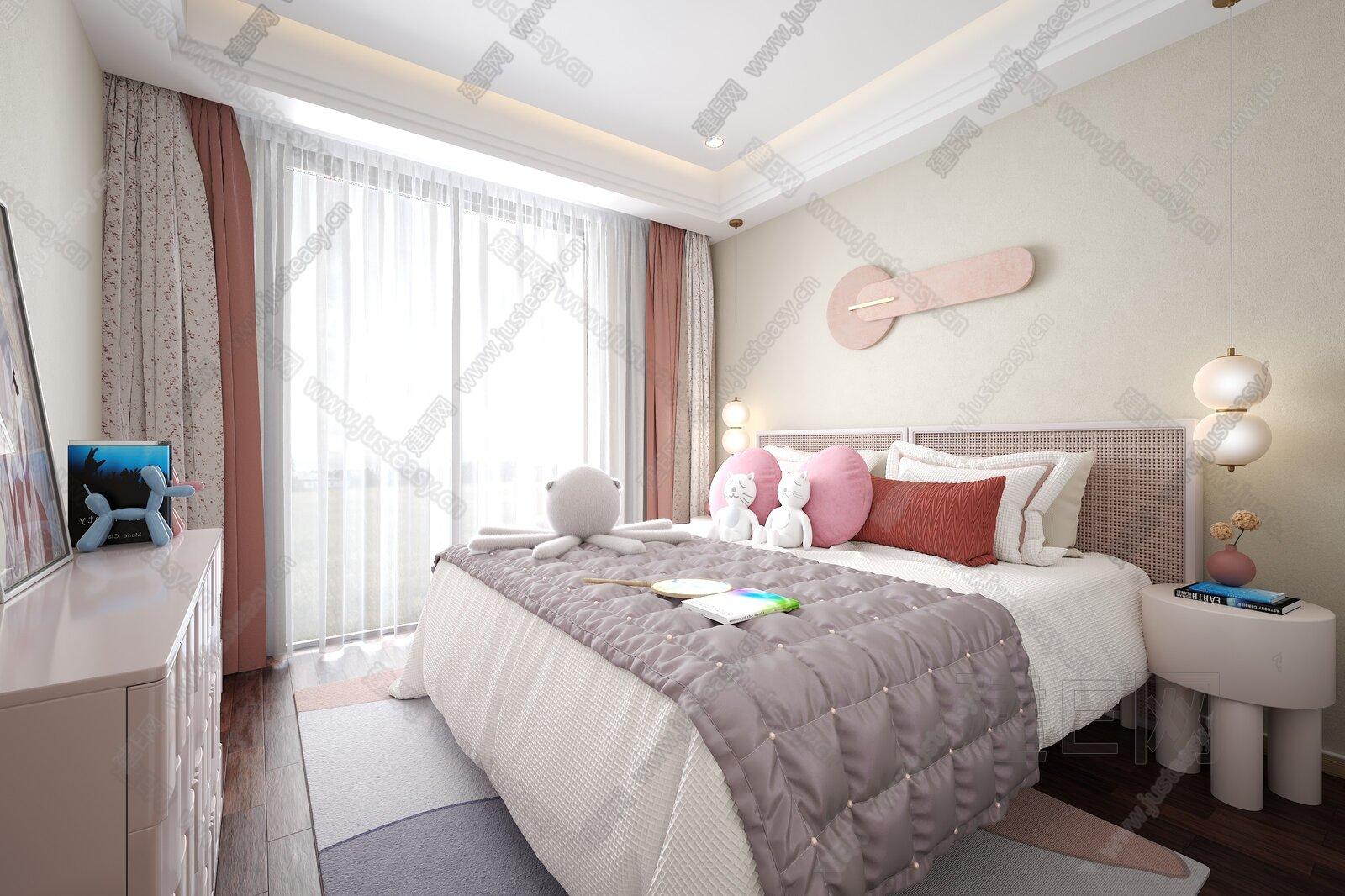 造梦空间设计 现代卧室3d模型