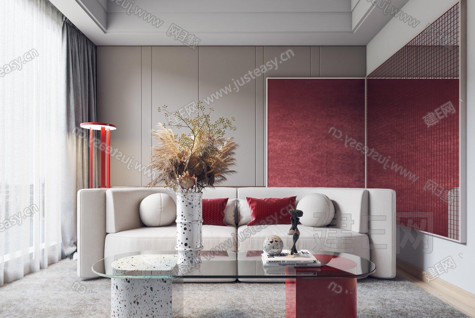 北欧客厅3d模型