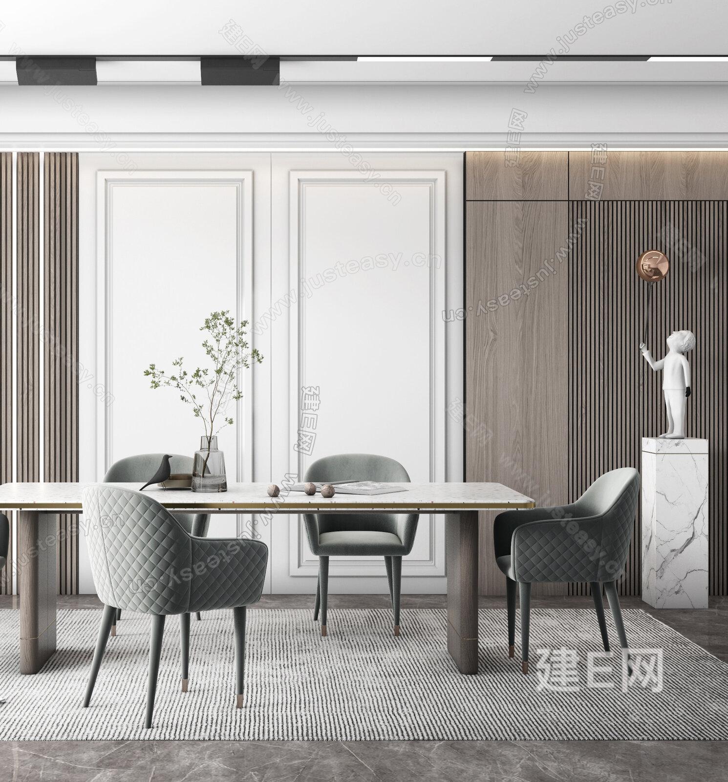 现代餐厅 简约餐厅3d模型