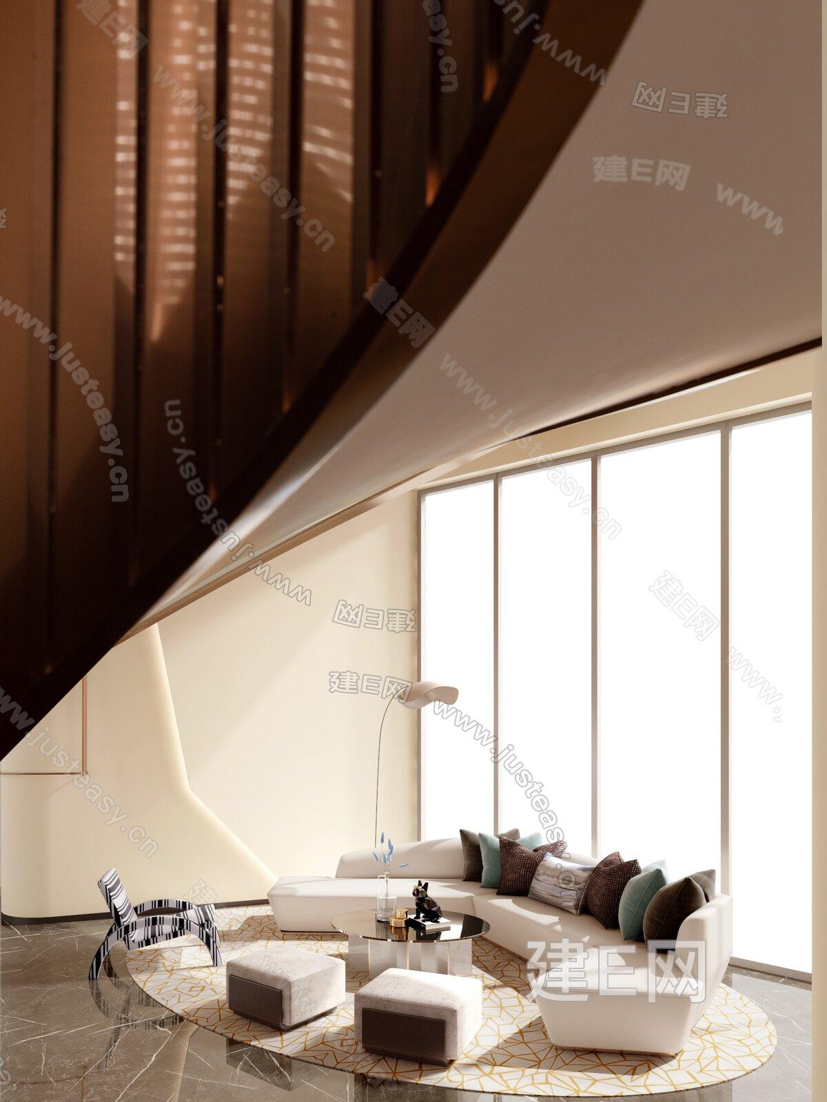 CHY室内设计 现代售楼处接待区3d模型