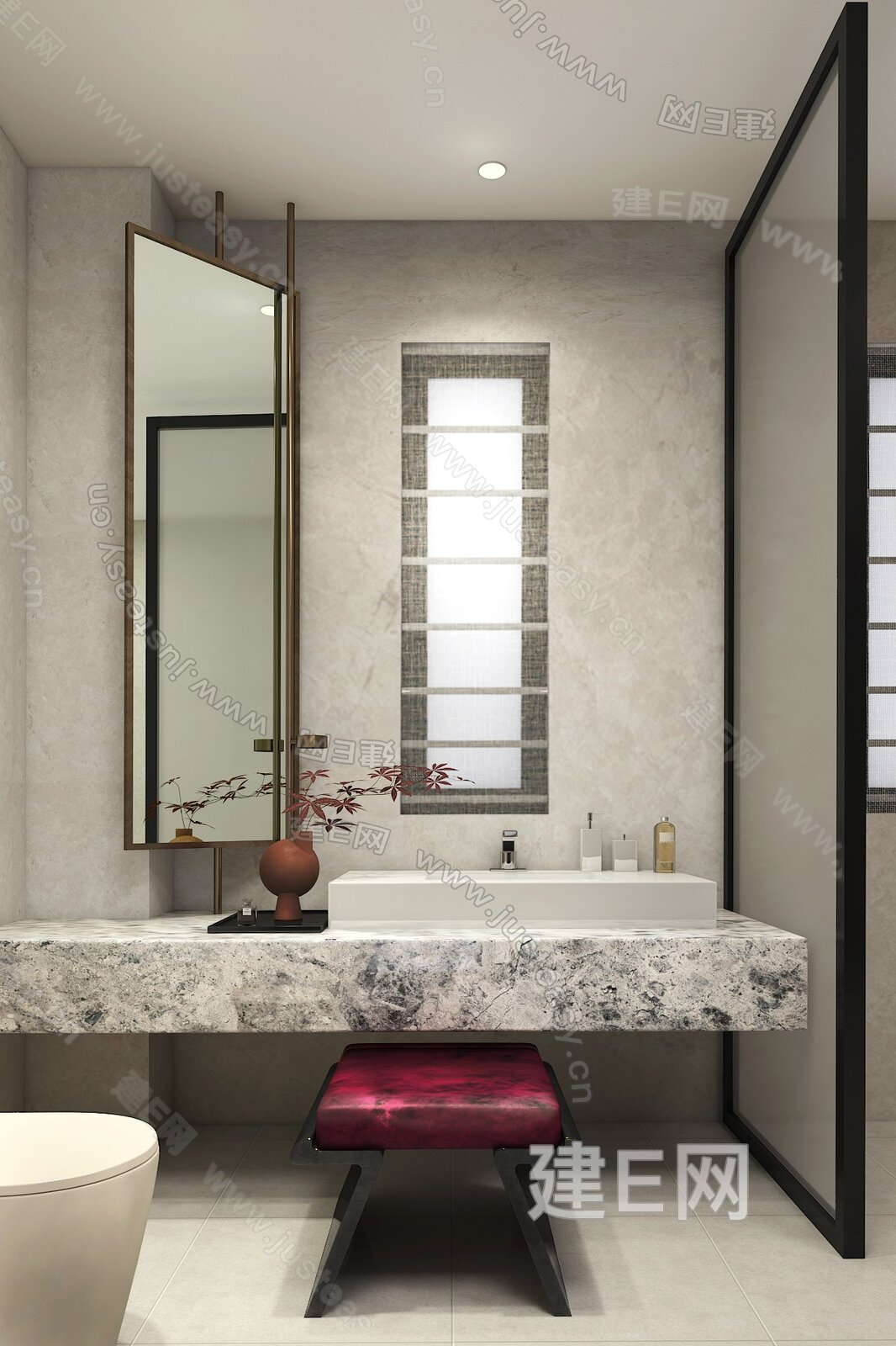 NNS DESIGN 纳沃设计 现代新中式卫浴3d模型