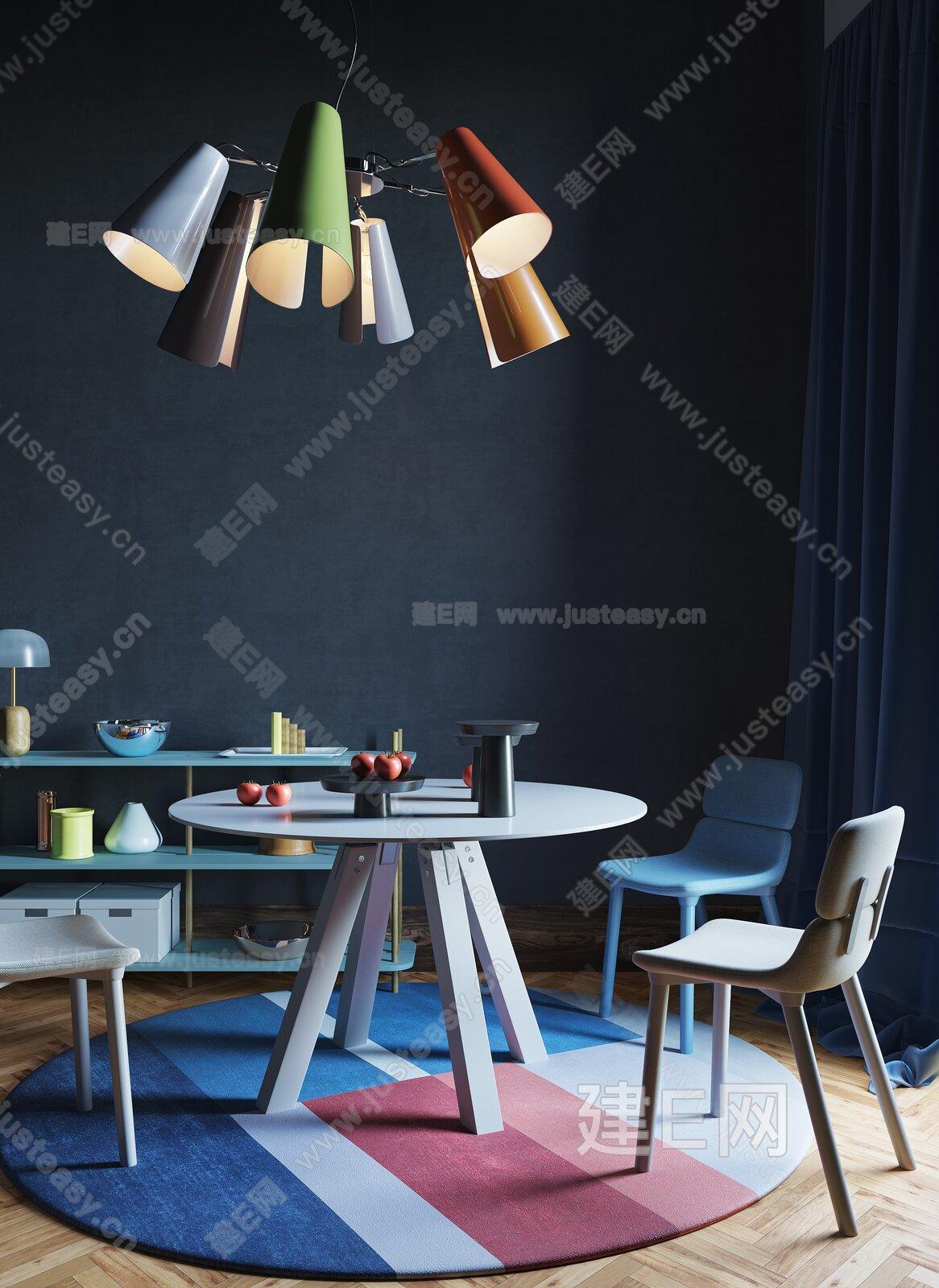 简欧餐厅3d模型
