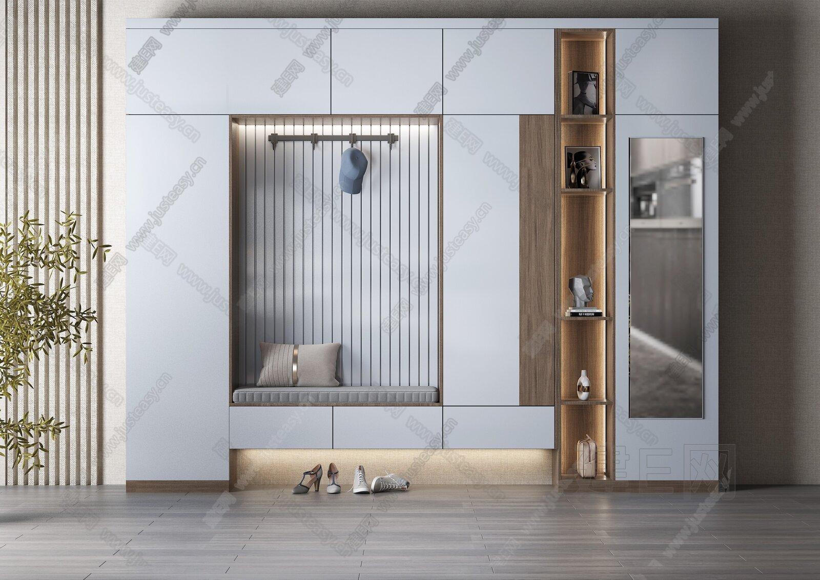 现代鞋柜3d模型