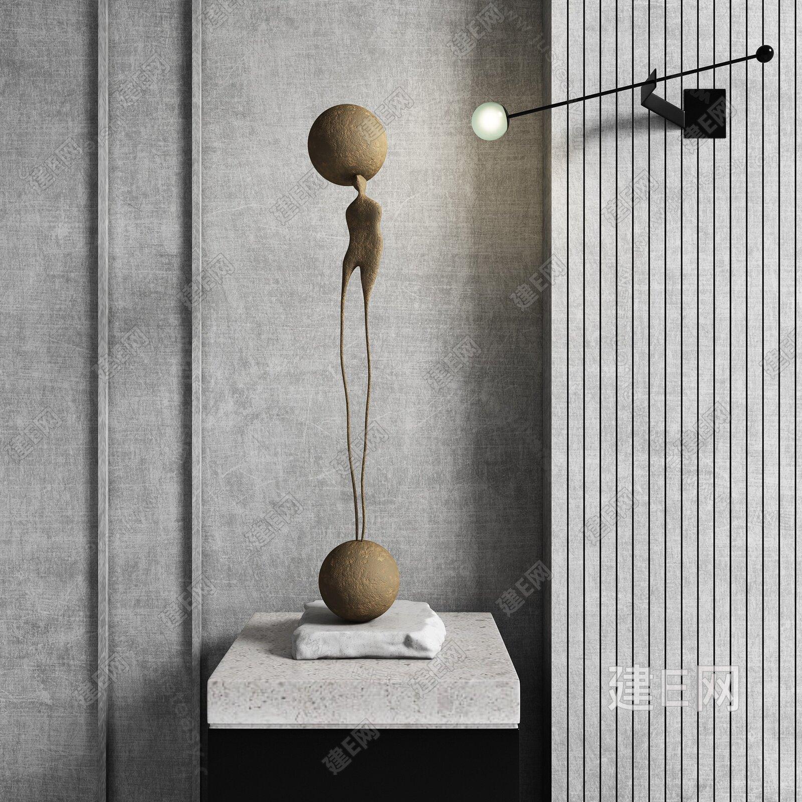 现代抽象雕塑3d模型