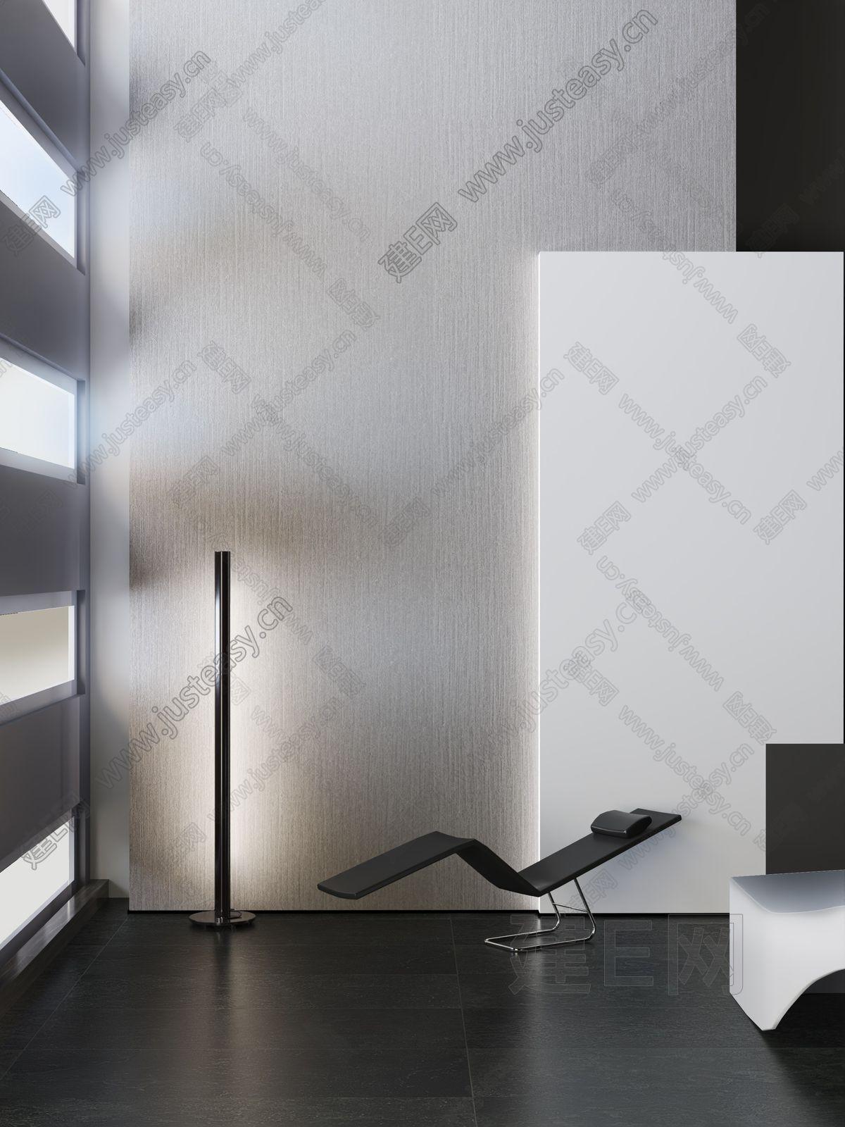现代躺椅落地灯3d模型