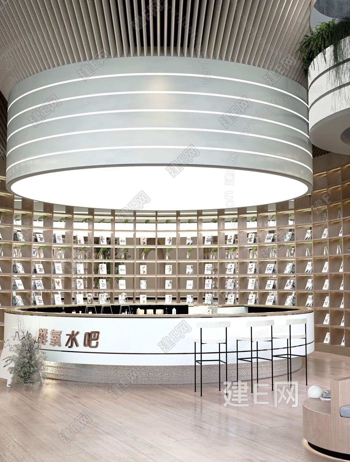 MOD墨设设计 现代楼中心会客区3d模型