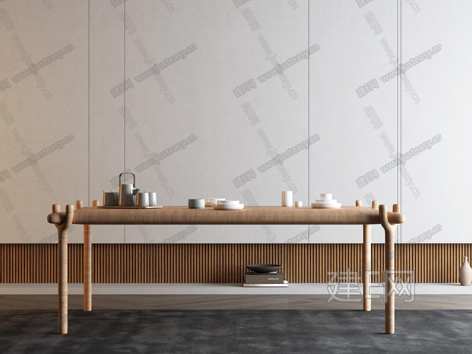 北欧餐桌3d模型