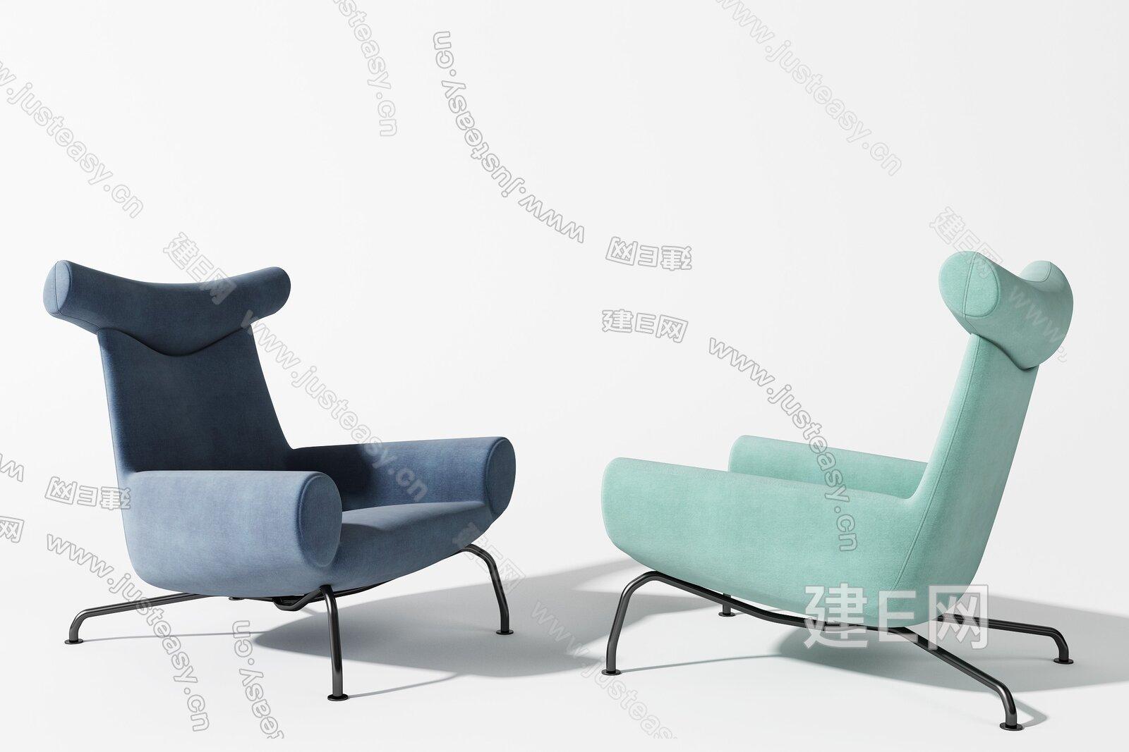 北欧单椅3d模型