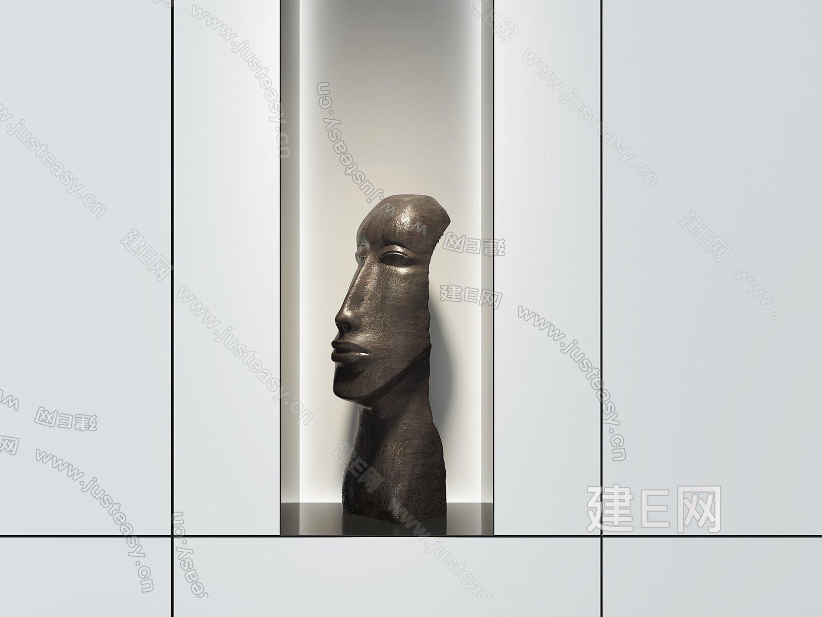 现代雕塑3d模型
