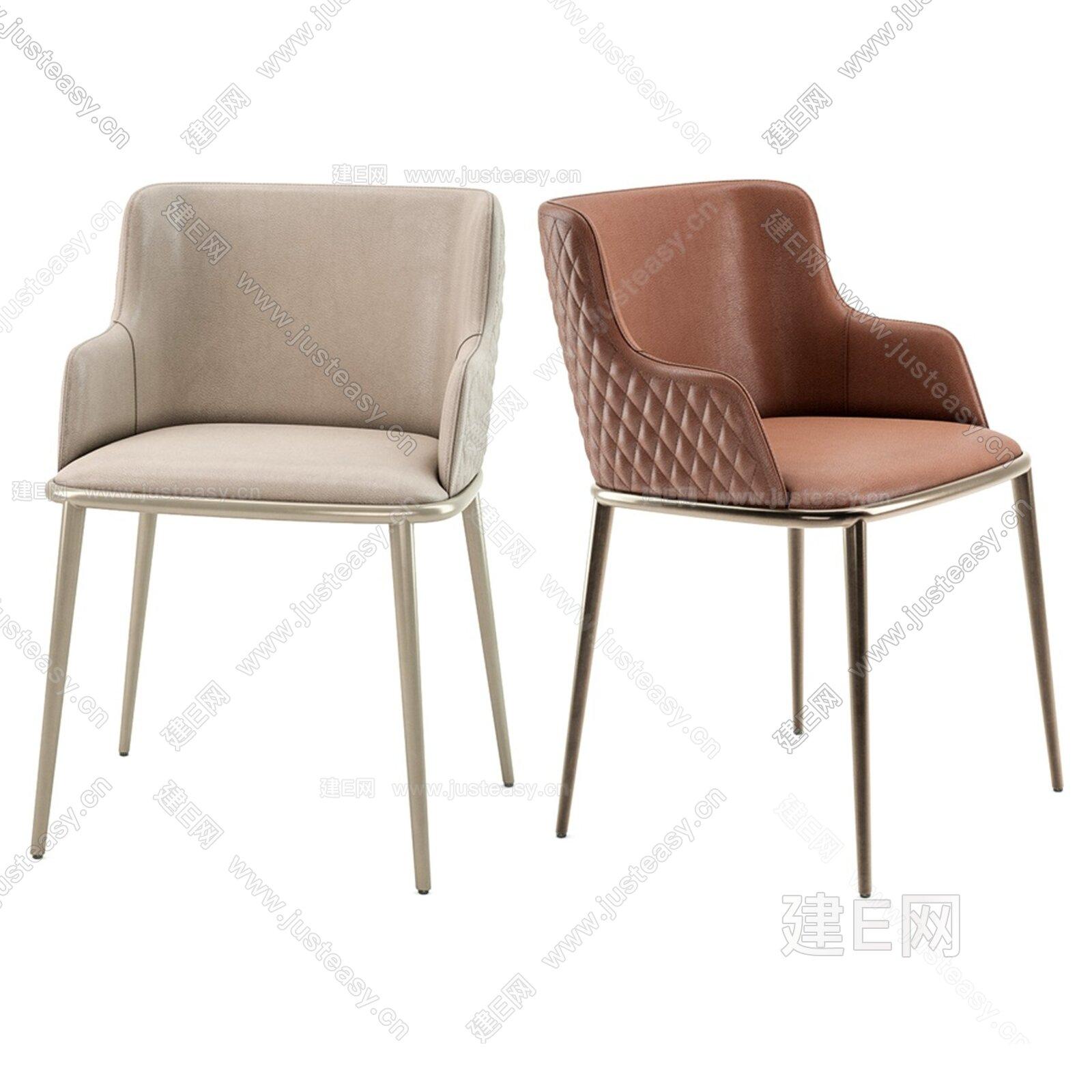 Magda ML 现代皮质单椅3d模型