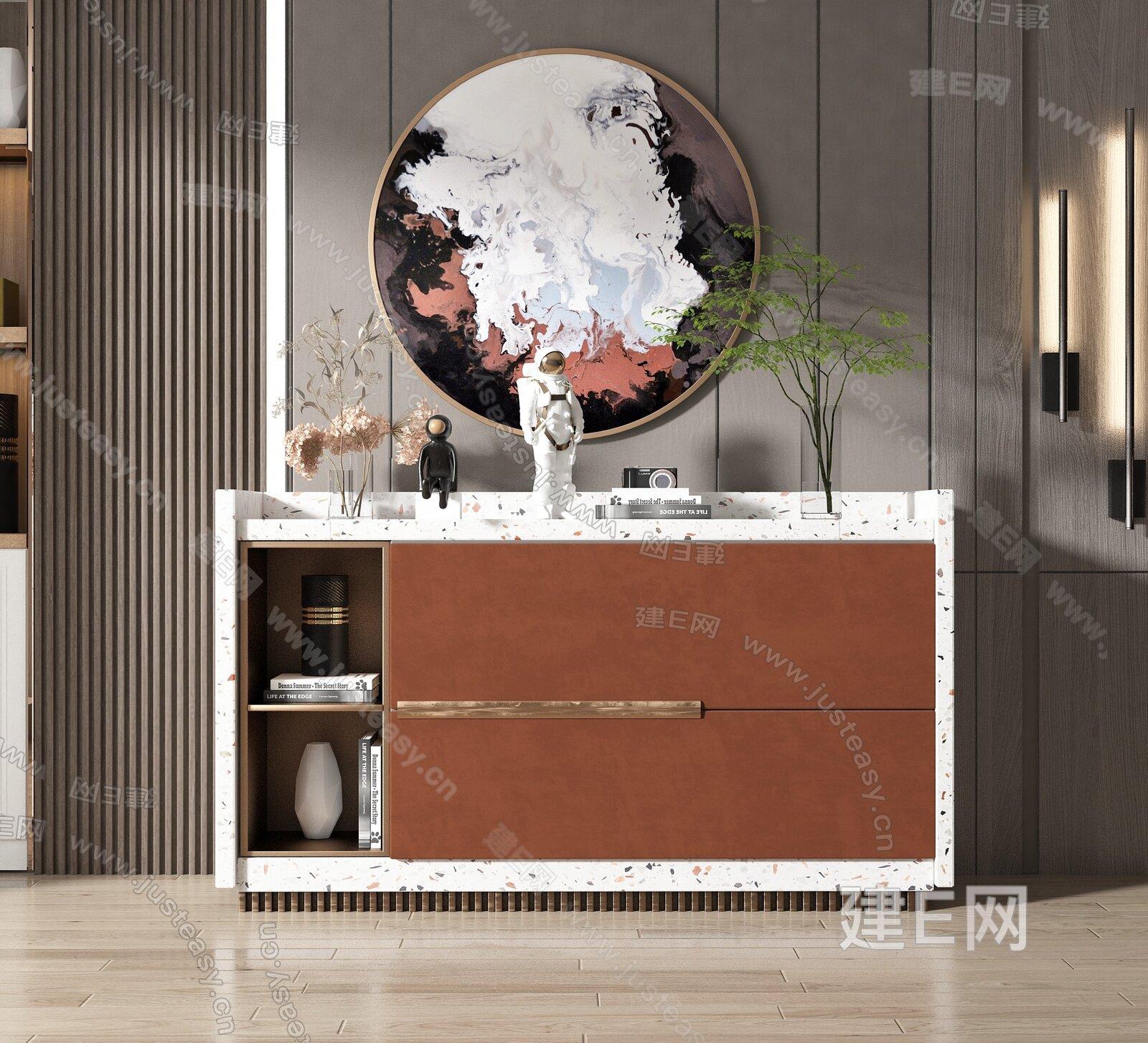 现代边柜3d模型