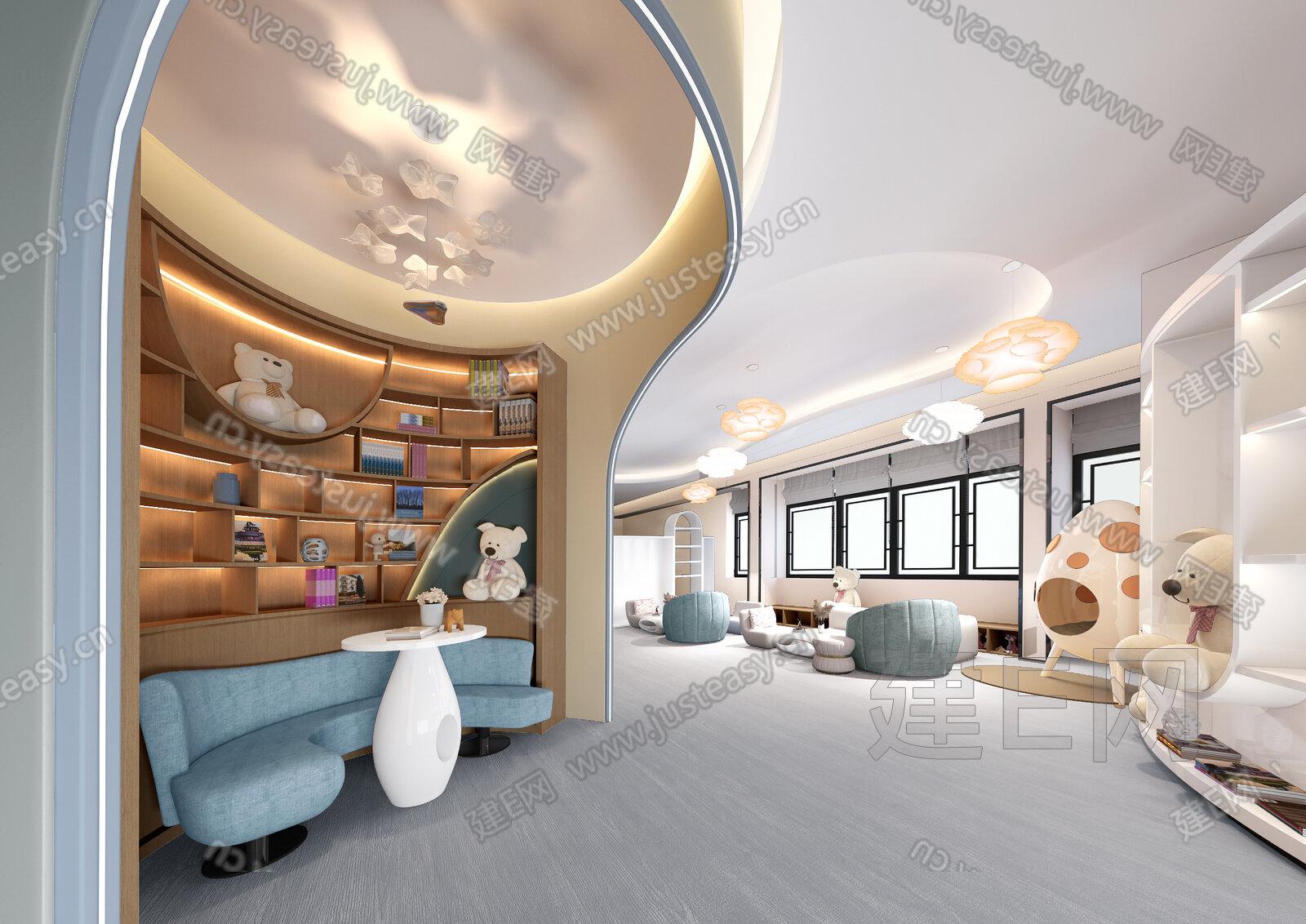 吴文粒 陆伟英 深圳市盘石室内设计有限公司 现代儿童娱乐区 3d模型