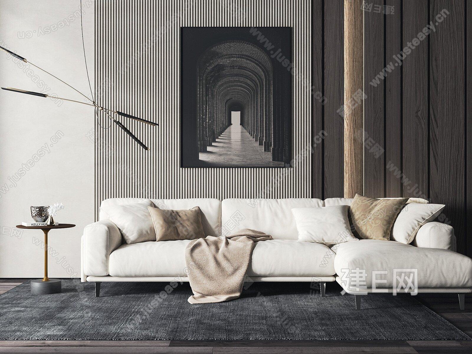 Arflex 现代多人沙发3d模型