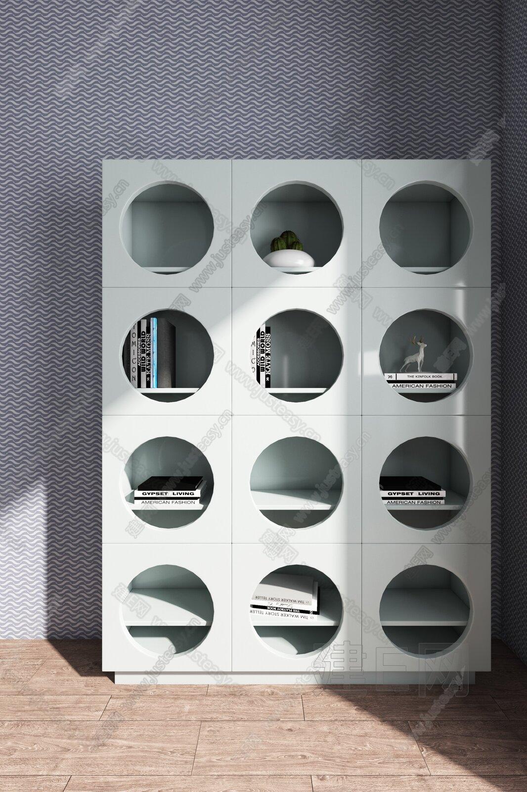 DESIGN 羽果设计 现代儿童书柜 3d模型