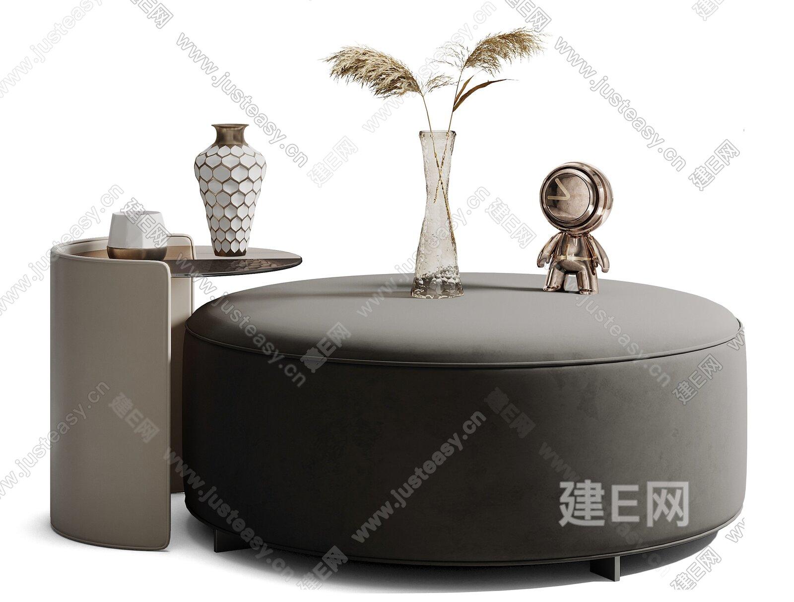 现代茶几组合3d模型