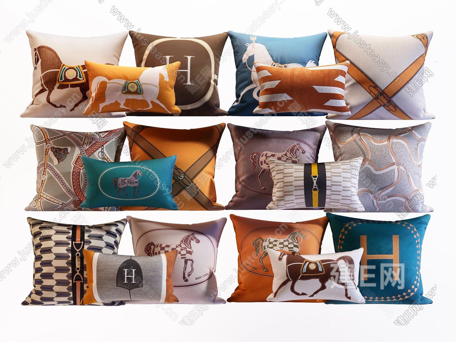 爱马仕抱枕组合3d模型