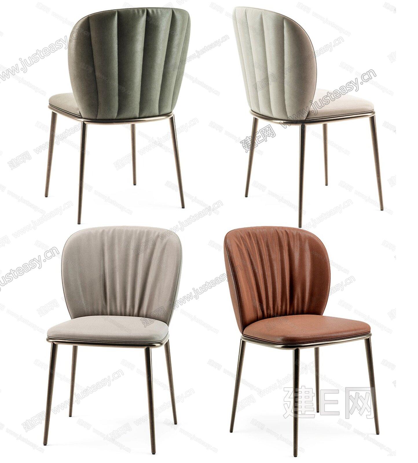 意大利 Cattelan 现代皮质餐椅3d模型