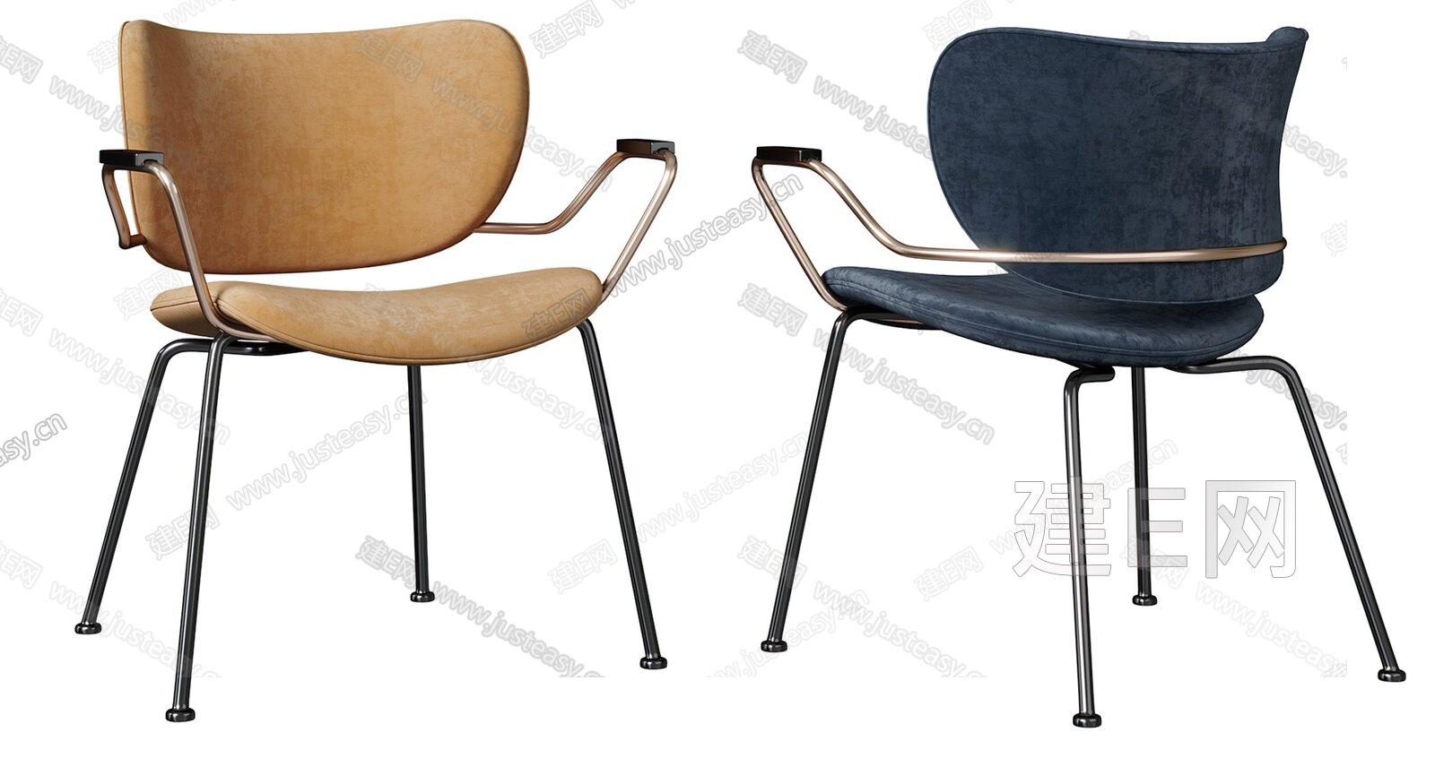 现代单椅组合3d模型