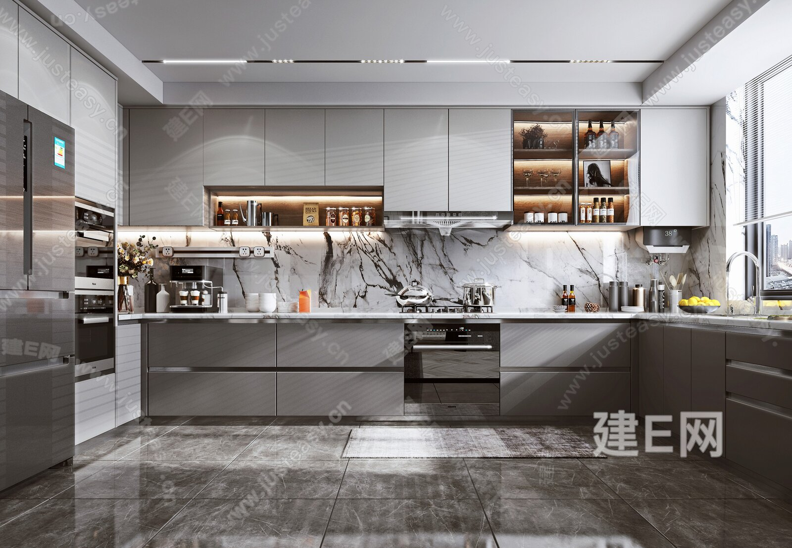 现代风格厨房 3d模型