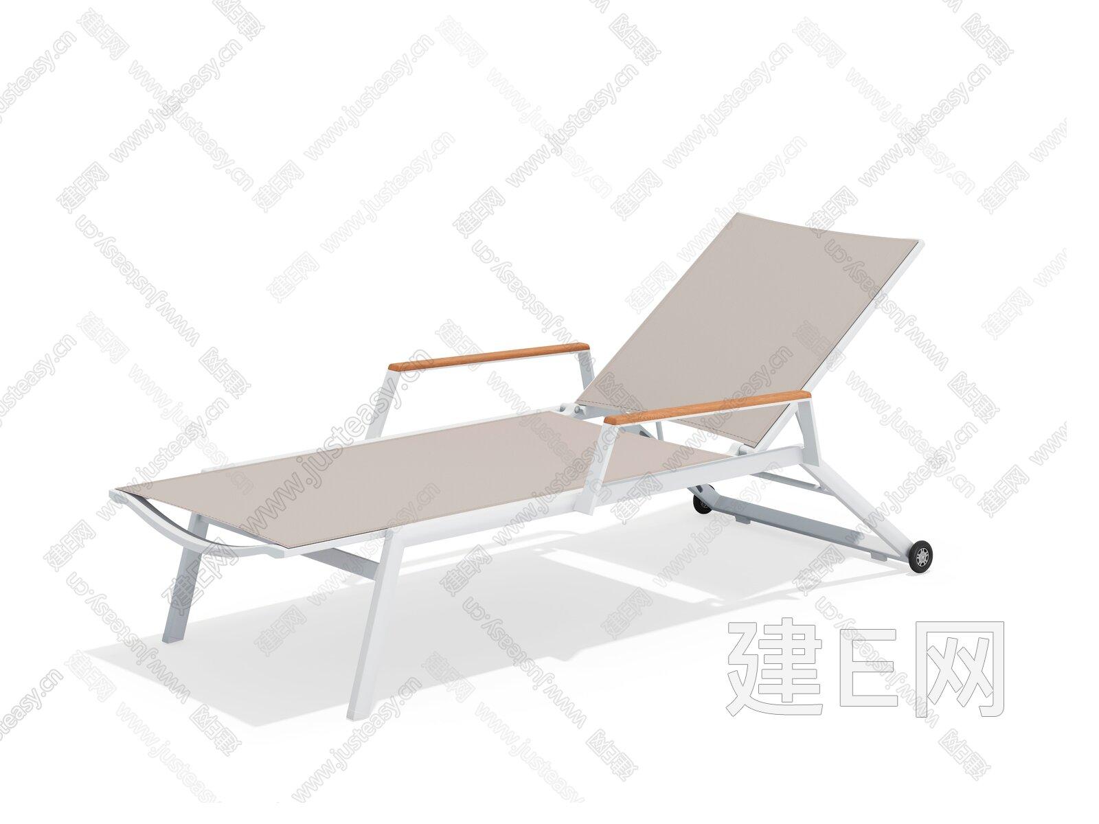 sunair 诗乐尔 现代躺椅3d模型
